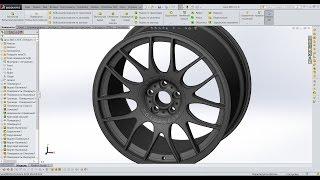 🔴 Урок SolidWorks №3 Диск BBS-CH-R