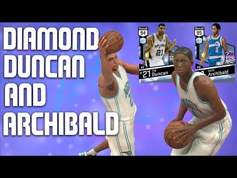 NBA 2K17 MyTeam Gameplay - Diamond Tim Duncan & Diamond Nate Archibald - Full Game Friday