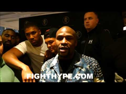"""FLOYD MAYWEATHER TELLS ALL FIGHTERS """"WE'RE NOT FRIENDS...LET'S FIGHT""""; ANTHONY JOSHUA CO-SIGNS"""