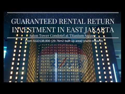 9% p.a. nett Guaranteed Rental Return Investment in East Jakarta (Aston Condotel)