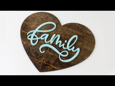 DIY Wood Sign Laser Cutter Family ShipLap Laser Cutting Project