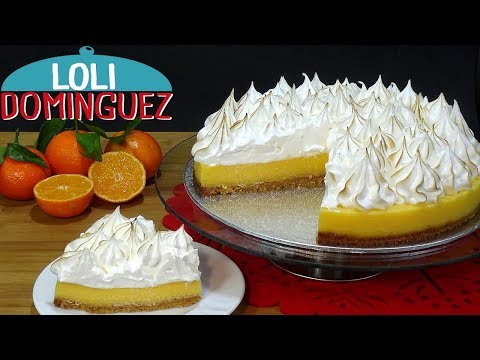 �FANTASTICA! Tarta de mandarina y merengue suizo (Orange pie) Mi receta n� 500. Loli Dom�nguez