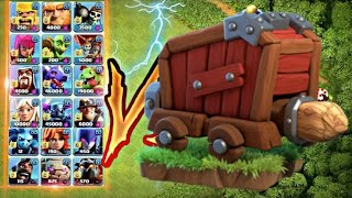 Wall wrecker vs all troops in clash of clans