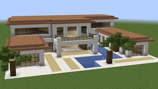 Minecraft - How to build a huge luxury villa