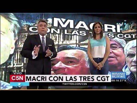 C5N - Política: Mauricio Macri se reunió con las tres CGT