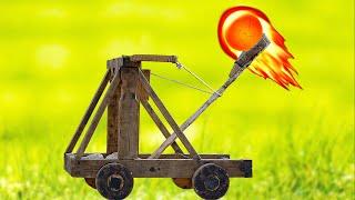 как сделать мощную катапульту?!!How to make a powerful catapult?