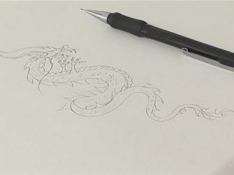how to sketch a chinese dragon drawing youtube