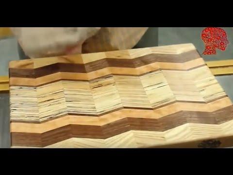 Woodworking # 1 - Chevron Cutting Board 2016 Kitchen Utensil Build Challenge - Woodwork