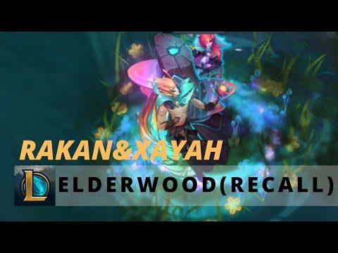 Elderwood Xayah & Rakan Recall ❤️ - League of Legends