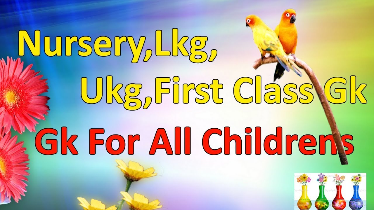 Nursery,Lkg Ukg,First Class GK for All Childern learning Video,2017