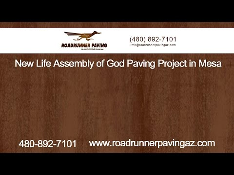 New Life Assembly of God Paving Project in Mesa