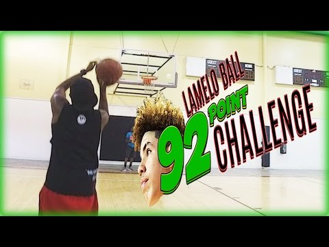 The LaMelo Ball 92 Point Challenge! - YouTuber IRL Basketball Challenge