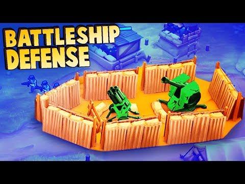 Battleship Base!  What is that!? (Guns Up! Multiplayer Gameplay)