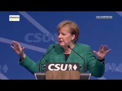 Rede Angela Merkel auf dem CSU-Parteitag am 15.12.2017