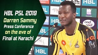 Darren Sammy press conference on the eve of Final at Karachi | HBL PSL 2019