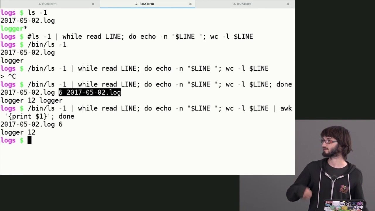 Introduction to Bash, VIM & Regex — James Halliday — Frontend Masters