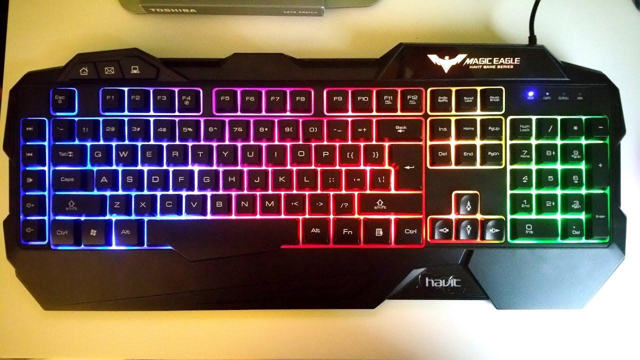 Havit Rainbow Led Backlit Gaming Keyboard Youtube