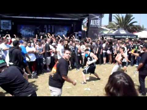 WhiteChapel live @the Ventura Warped Tour 2010 6-27-10