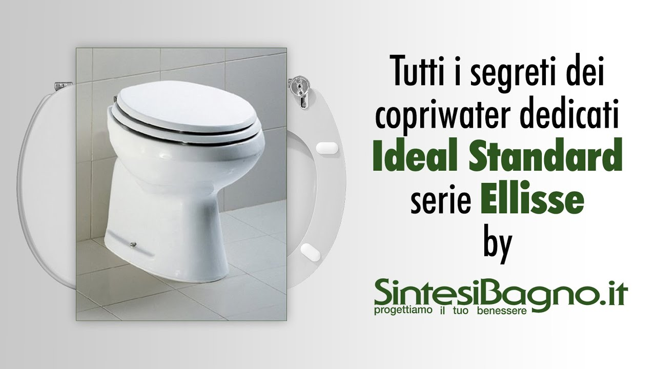 Copriwater ideal standard ellisse sedili wc dedicati for Lunette wc ideal standard