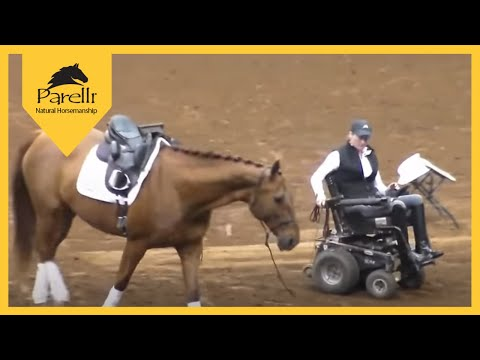 Paralympic Dressage Rider Lauren Barwick at Parelli Future of HorseManShip Tour Stop