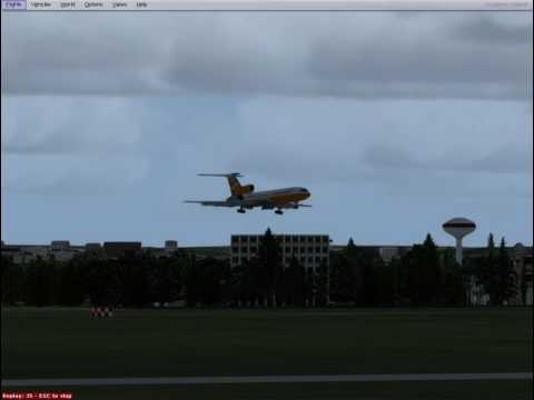 Orbit Airlines Tu-154 landing at Moscow