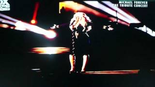 Christina Aguilera - Smile (Performance of Michael Forever Tribute Concert) Cam Rip