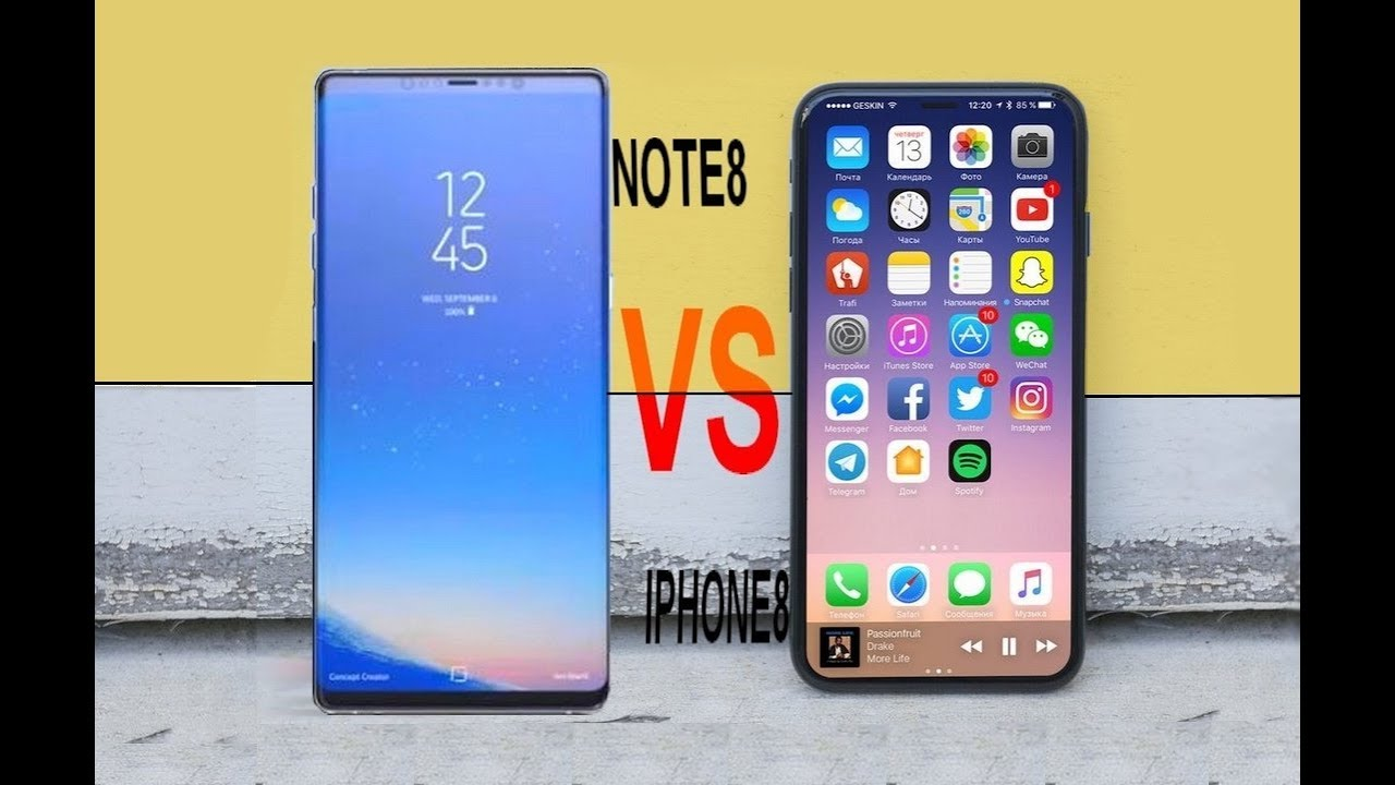 5031a9a35 Samsung Galaxy Note 8 VS iPhone 8 - Full Comparison! - YouTube
