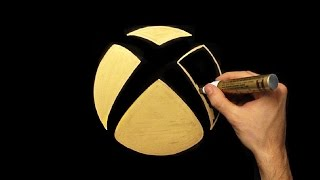 How To Draw Gold Xbox Logo   Drawing   Draw With Denis