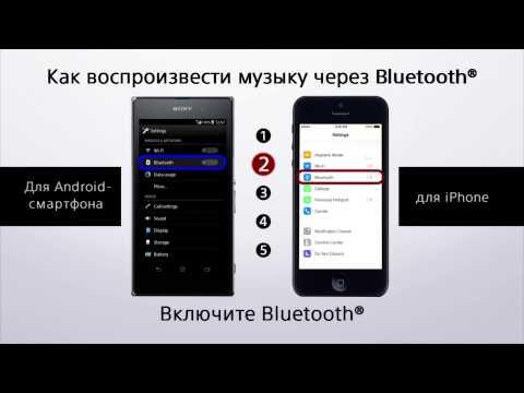 Как воспроизвести музыку через Bluetooth