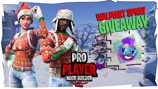[WALMART SPRAY GIVEAWAY] Nog Ops Returns ( Fortnite Bataille Royale