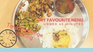 My favourite menu under 45 minutes/Time challenge cooking/Sivakasi Samayal  88