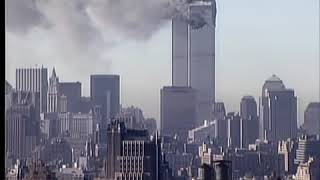 South Tower (WTC 2) Attack & Collapse (CNN Roof Top View)