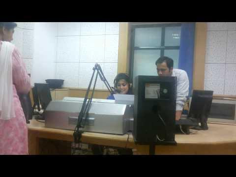anchor rj krishna varma of delhi on air for mehfil on yuvvani all india radio dated 27th july 2014