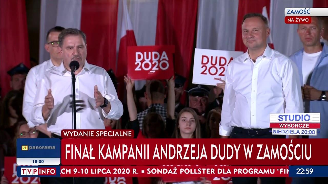 Andrzej Duda - Finał kampanii Zamość - 10 lipca 2020 r ...