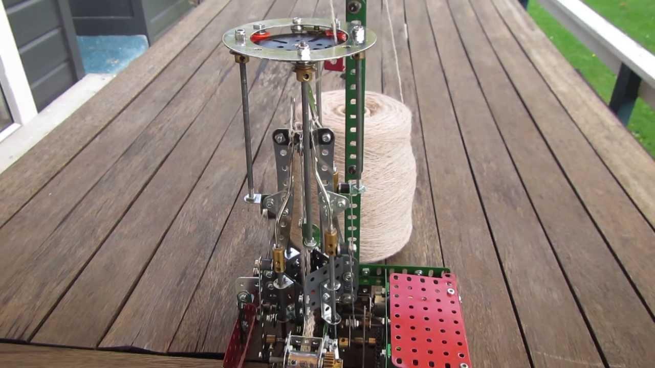 French Knitting Machine : Meccano french knitting machine mk by hugh ramage youtube
