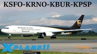 X-Plane 11 | PilotEdge Fun!! | KSFO-KRNO-KBUR-KPSP | B767 B737 A320 | PilotEdge | Palm Springs!!