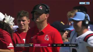 NCAA Football Ball State Cardinals visit the Indiana Hoosiers 1st Half Color by Bobby Carpenter