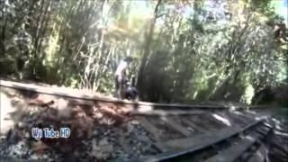 Log Train Trail Xing CPR Railway