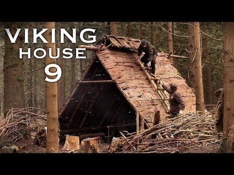 Building a Viking House with Hand Tools: CHIMNEY | Bushcraft Project (PART 9)