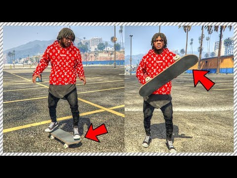 Franklin Learns how to Skateboard!! - GTA 5 FRANKLINS REAL LIFE MOD #65 (GTA 5 SKATE MOD GAMEPLAY)