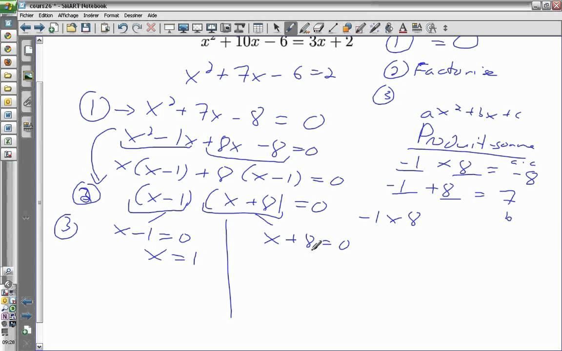 Résoudre une équation du second degré - YouTube
