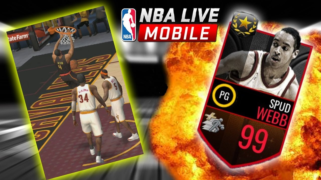 ULTIMATE LEGEND SPUD WEBB DUNKING ALL OVER THE CLEVELAND CAVALIERS