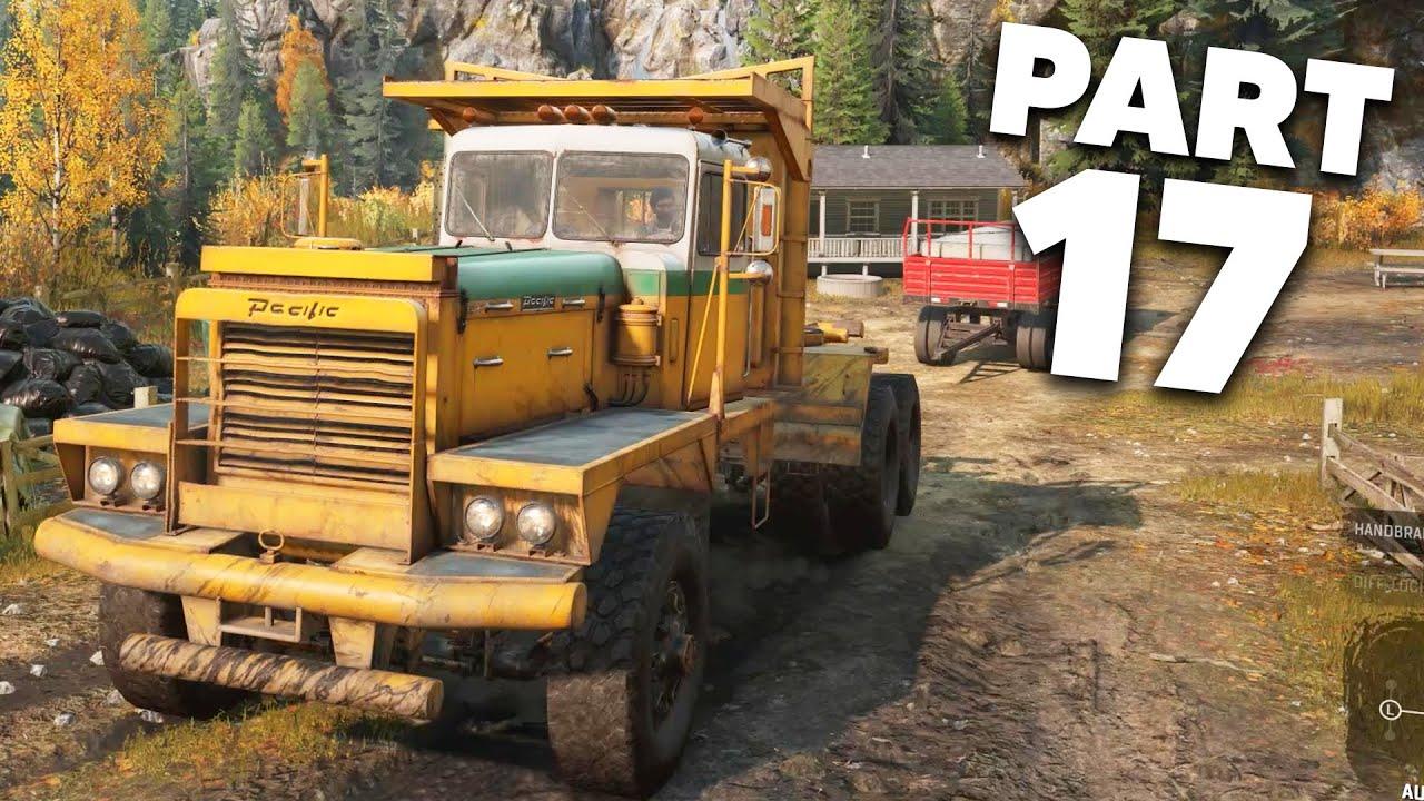 SNOWRUNNER Gameplay Guía Parte 17 - EL PACÍFICO P16 ES UNA BESTIA + vídeo