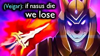 my team gave up BUT THEN they witnessed 1v9 SANGUINE BLADE NASUS