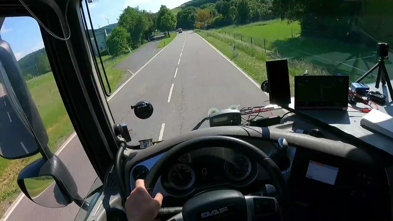 B 270 POV truck drivng