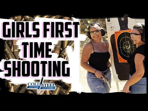women-shoot-guns-for-the-1st-time- -cold-steel-&-hot-brass
