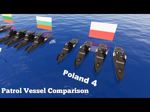 Patrol Vessel Fleet Strength by Country - Military Power Comparison 3D