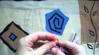 Урок по плетению фенечек №1 Как закрепить нитки)
