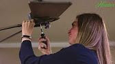 How to Install a Hunter Ceiling Fan - 2x Series Models - YouTube Hunter Model A Lower Fan Wiring Diagram on