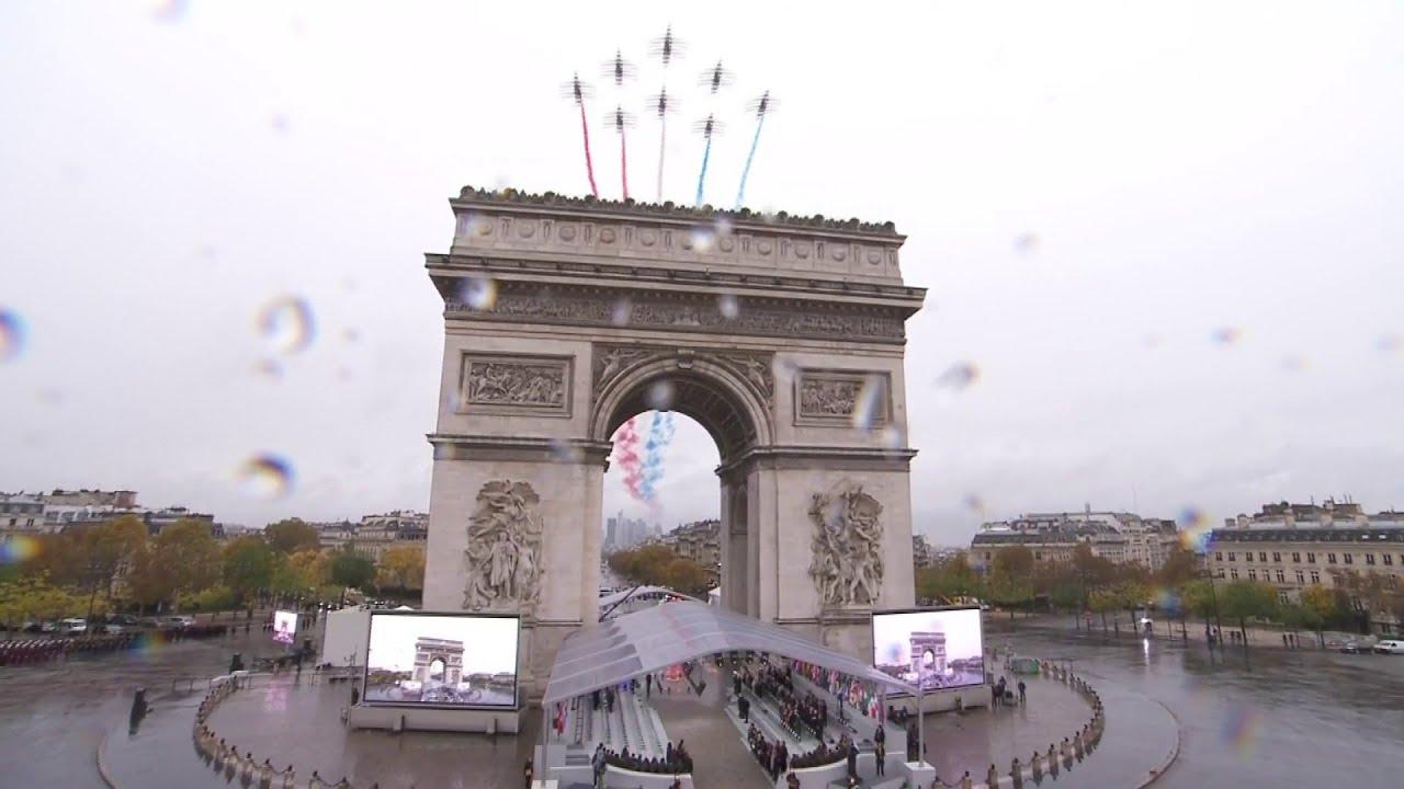 Les moments forts du centenaire de l'Armistice à l'Arc de Triomphe